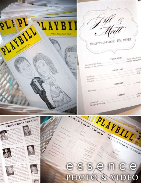 1000 Images About Wedding Playbills On Pinterest Wedding Programs Theater Wedding And Playbill Program