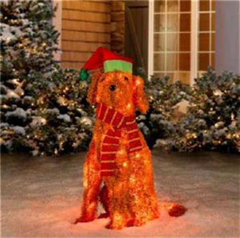 pre lit tinsel dog pre lit lighted 35 quot labradoodle tinsel outdoor yard decor ebay