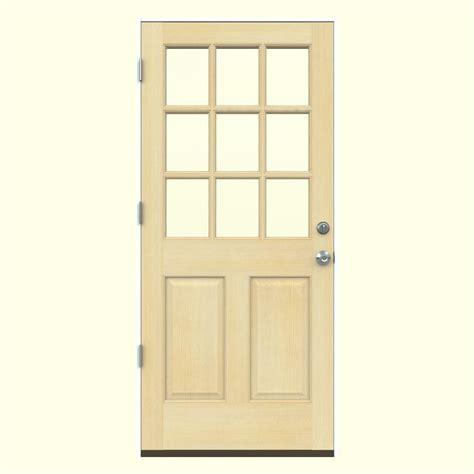 30 X 80 Exterior Door Jeld Wen 30 In X 80 In Craftsman 6 Lite Unfinished Wood Fir Front Door Slab 30fir6ltslb The