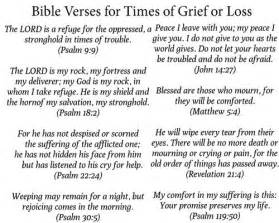 10 bible verses times grief loss