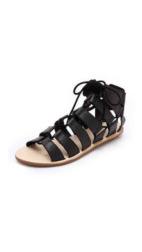 gladiator sandals black loeffler randall gladiator sandals in black lyst