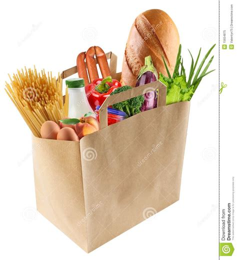 food bag paper bag with food royalty free stock photo image 15654875