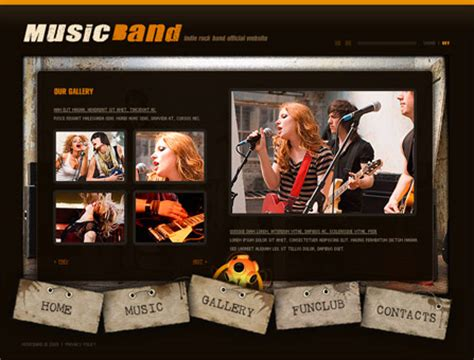 Top 8 Ecommerce Website Templates Band Website Templates