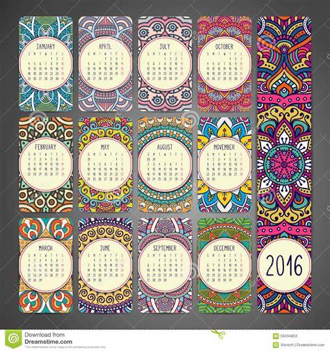 Imagen Calendario Original Calendario Con Las Mandalas Ilustraci 243 N Vector