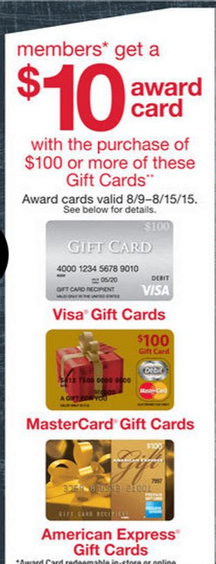 visa gift card fine print 10 kmart credit with 100 visa gift card purchase
