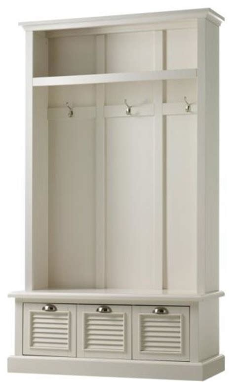 hall tree bench uk shutter locker storage polar white traditional hall