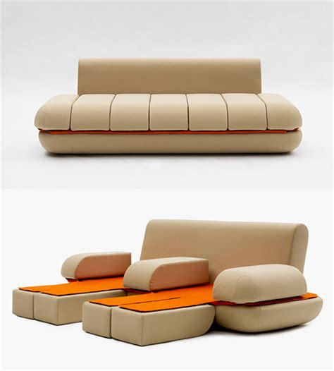 awesome sofas awesome touchpad controlled transforming sofa techeblog
