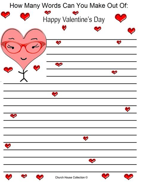 words for valentines day s day word mining