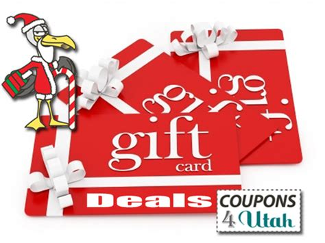 gift card deals restaurants stores movies spas coupons 4 utah - Restaurants With Gift Card Specials 2013
