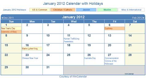 January 2012 Calendar Print Friendly January 2012 Us Calendar For Printing