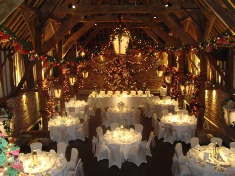 christmas venue themes the tithe barn decorated for christmas wedding venue in