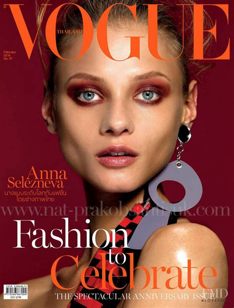 On The Cover Of Vogue This February by Cover Of Vogue Thailand With Selezneva February 2016
