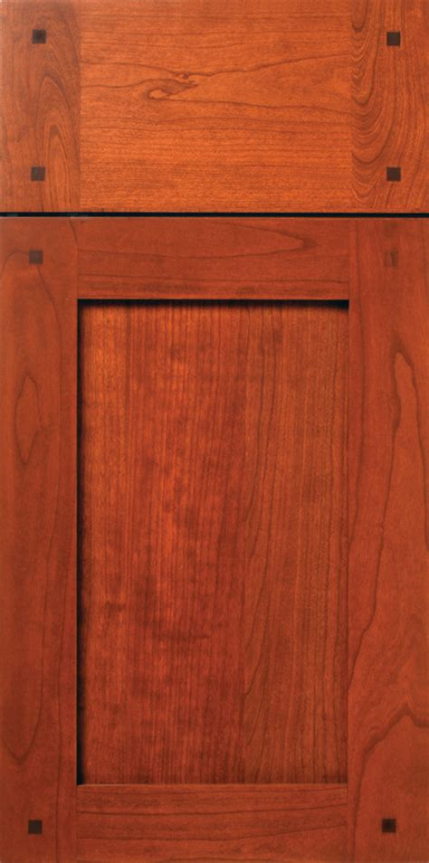 Walnut Cabinet Doors Cherry Shaker Cabinet Door With Walnut Peg Buttons Walzcraft