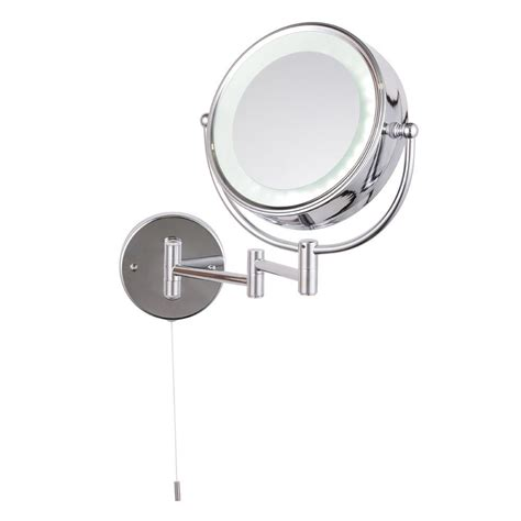 bathroom magnifying mirror with light toscana led round 2x magnifying mirror chrome from litecraft