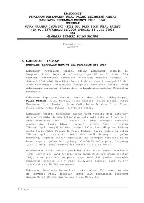 Contoh Surat Kronologis by Kronologis Penolakan Di Jakarta Malam Senin