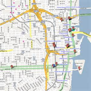 Map Of Downtown Miami by Pin Miami Map On Pinterest