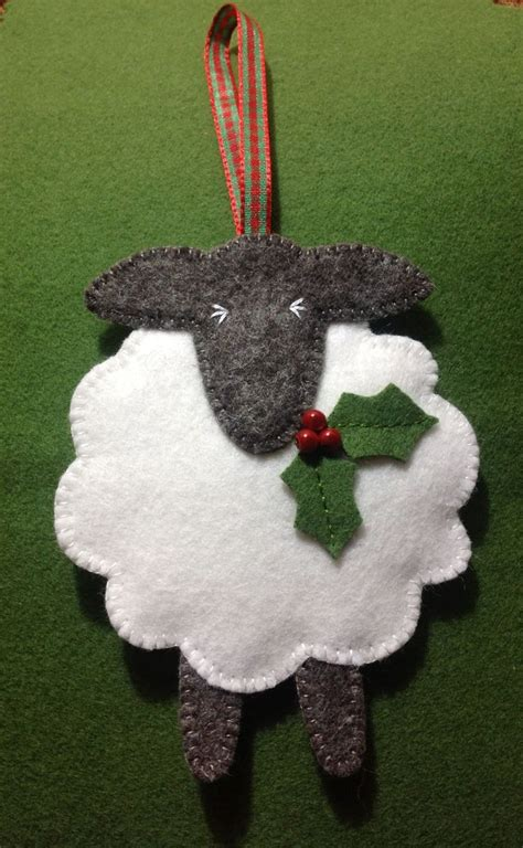 darling felt sheep christmas ornament fabulous felt
