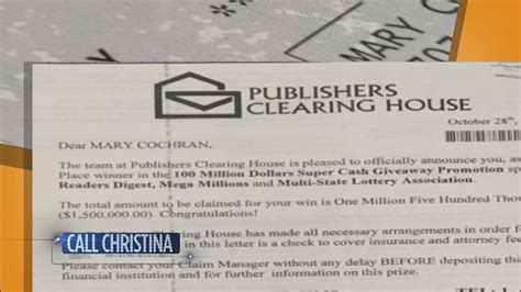 Publishers Clearing House Letter - local 10 news viewer nearly falls victim to sweepstakes scam