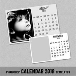 Calendar 2018 Photoshop 2018 Monthly Calendar Template 4x6 Quot Photoshop Or