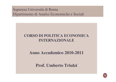 dispense economia politica politica economica della transizione dispense