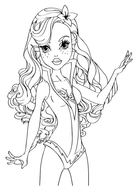 monster high dracubecca coloring pages lagoona blue a mare monster high disegni da colorare