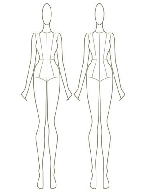 design clothes template 56 best fashion croquis of all sizes images on pinterest