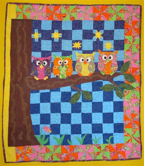 Quilt Owl by Hectichousehold Owl Quilt Finished
