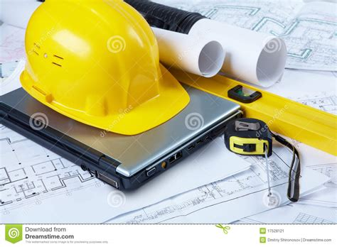 Design House Blueprint Free engineering tools stock image image of object design
