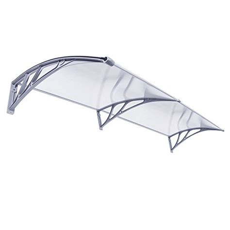 polycarbonate door awning f2c 40 quot x80 quot modern polycarbonate cover overhead clear front door window awning outdoor