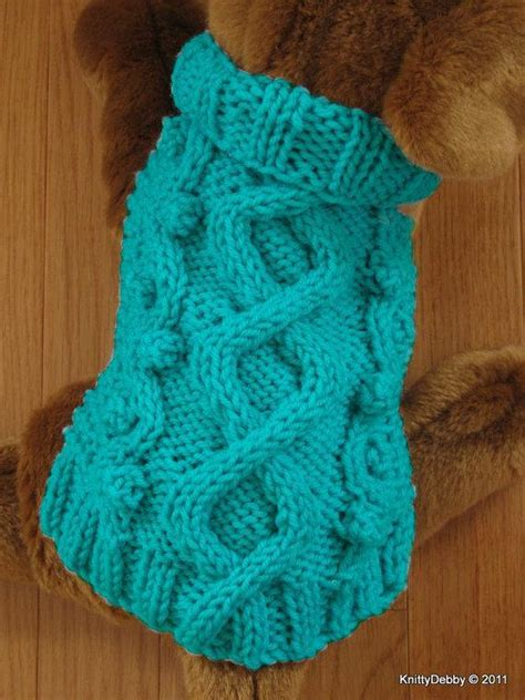 patterns for knitting dog sweaters with cables celtic doggie wandering path dog sweater by knittydebby
