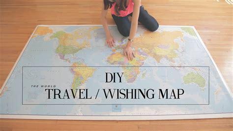diy world travel map diy travel wishing map cathydiep