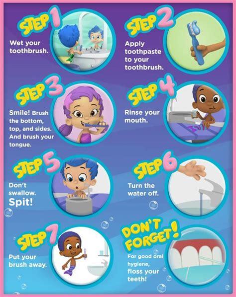 printable dental poster kids dental care steps appointment 9811109445