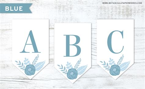 printable banner letters blue free printable floral letter banners made with seed