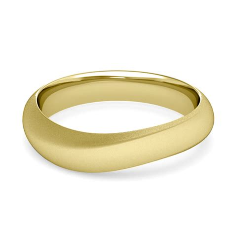 curved wedding band mens comfort fit wedding ring