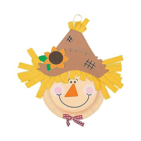 Scarecrow Paper Plate Craft - easy fall crafts that anyone can make happiness is