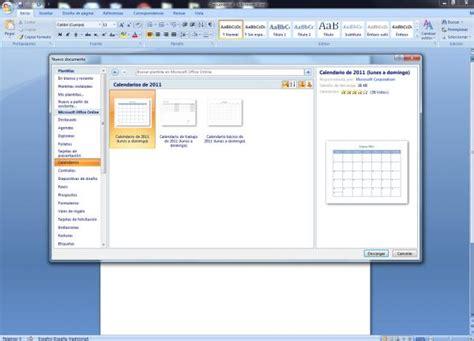 Calendario Word Crear Calendario Con Asistente De Word Rwwes
