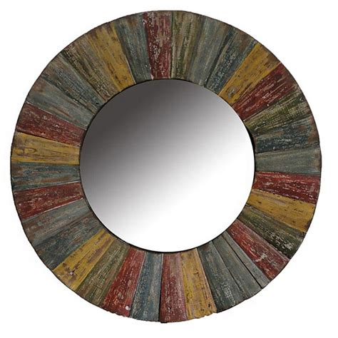 multi color wooden mirror rc willey furniture store