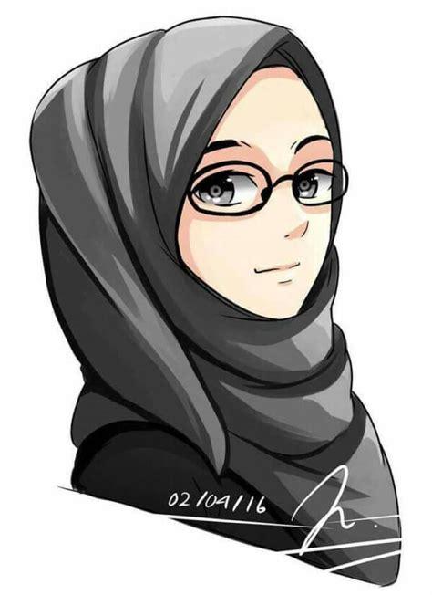 gambar keren sahabat gambar kartun muslimah sahabat 2 orang