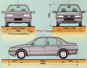 Peugeot 405 Dimensions Document Moved