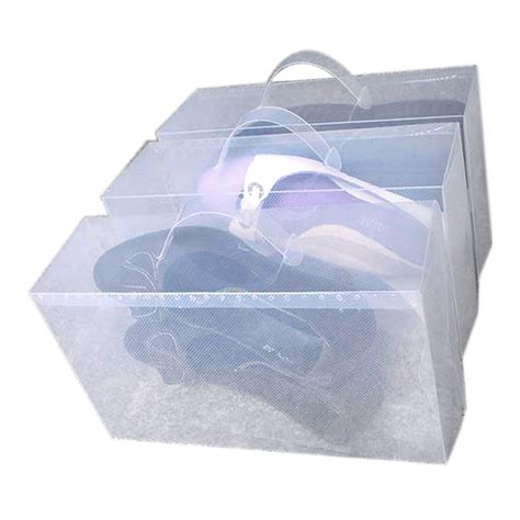 shoe storage boxes uk 24x clear see through stackable foldable plastic shoe