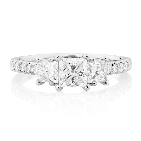 evermore colourless engagement ring with 1 1 2 carat tw of