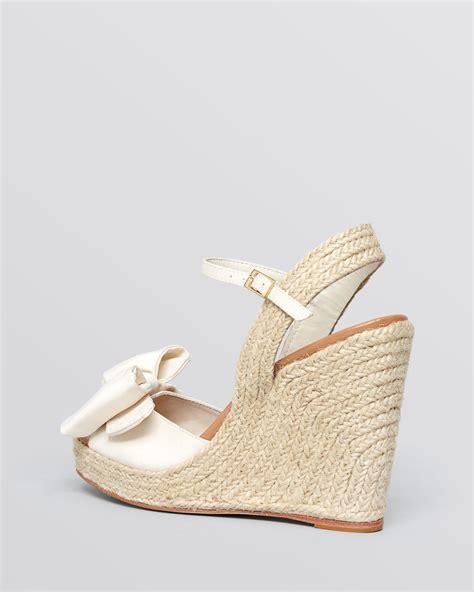 lyst kate spade new york open toe espadrille platform wedge sandals jumper in