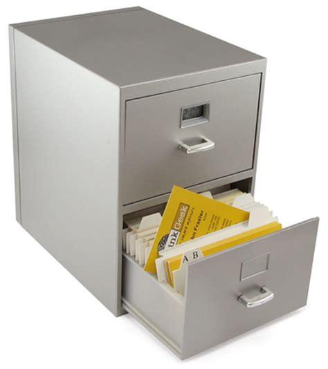 Mini Business Card File Cabinet   ThinkGeek