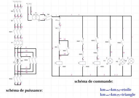 Schema De Commande Eclairage by Schema Demarrage Etoile Triangle Un Sens Electromecanique