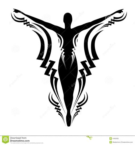 silhouette tattoo designs abstract design stock photography image