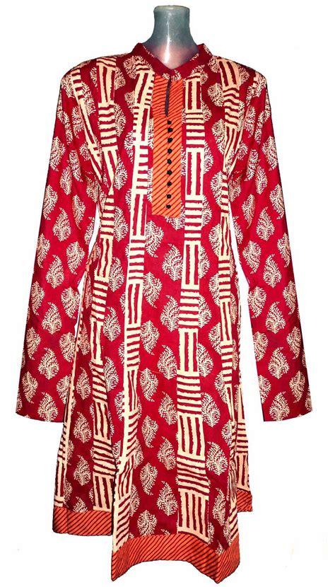 umbrella pattern kurtis designer cotton red long kurti ag39k online shopping