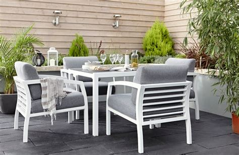B Q Patio Dining Sets Sydney Metal Garden Furniture Contemporary Outdoor
