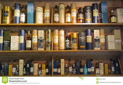 Whisky Shelf by Whisky Bottles Editorial Stock Image Image Of Drinks