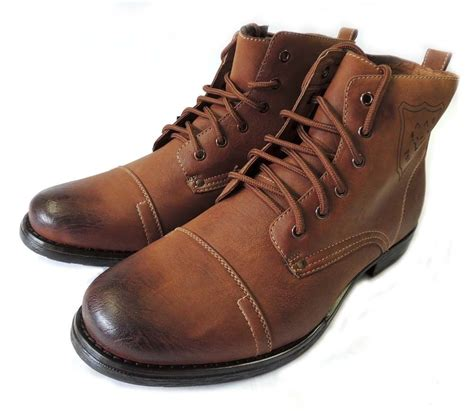 mens leather combat boots new mens ankle boots combat style leather lined