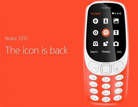 Nokia 3310 Second the nokia 3310 is back but it s not exactly a pretty sight gsmarena news